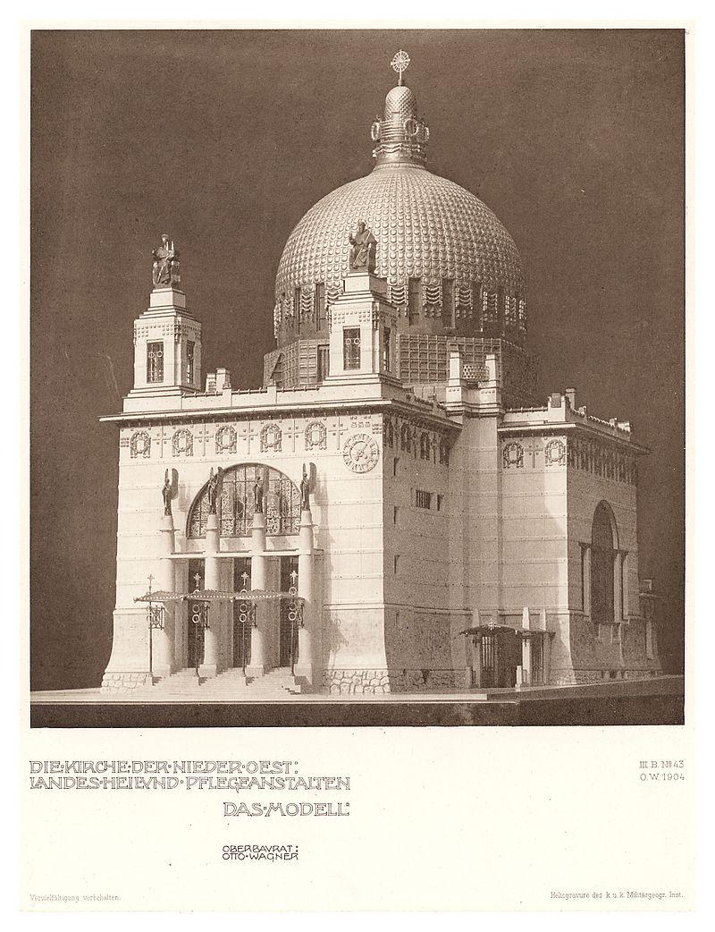 14_Otto_Wagner-Kirche_-_Baumgartnerhöhe_-_Wagner_Band_5._6._und_7._Heft_-_Das_Modell,_Heliogravure