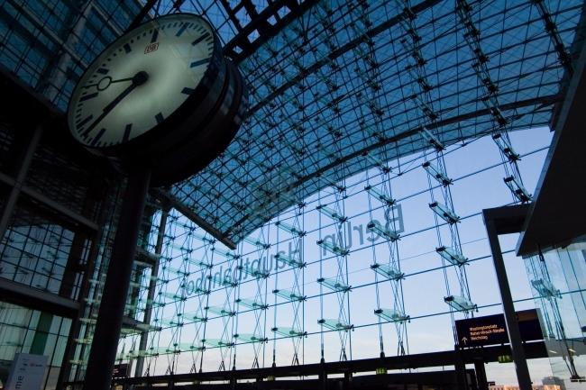 Часы Hauptbahnhof